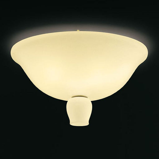 The Anni Trenta yellow or white  glass flush light from Venini