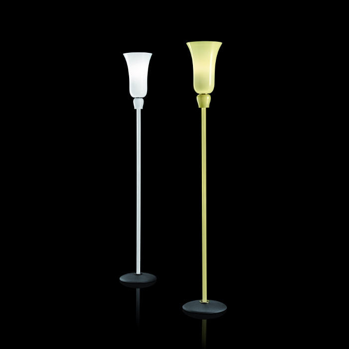 The Anni Trenta  yellow or white Venetian glass floor lamp from Venini