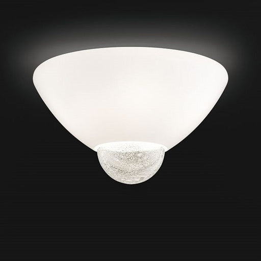 Argea flush ceiling light from Venini with gold or silver leaf