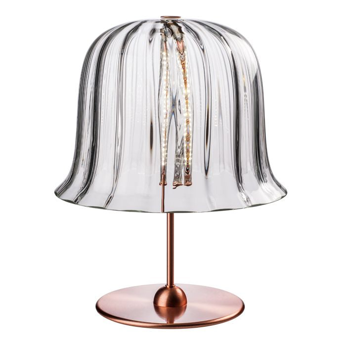 Kalika Murano glass lamp with copper base from Venini