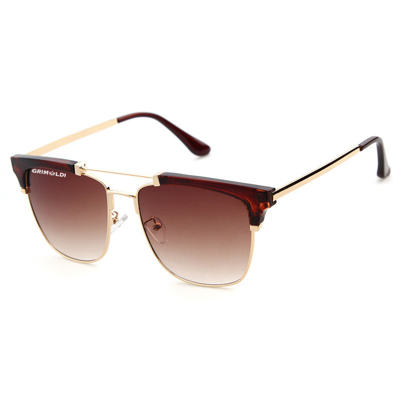 Retro Half Frame Gold/Brown