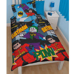 Lego Batman & Joker 'Dynamic' Single Duvet - CHARACTEROUTLET.co.uk