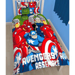 Marvel Avengers Assemble 'Battle' Single Duvet - CHARACTEROUTLET.co.uk