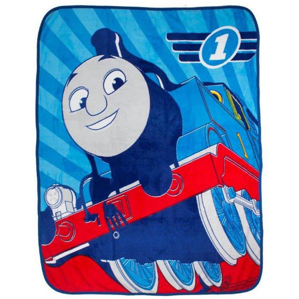 Thomas The Tank Engine & Friends 'Racer' Coral Fleece Blanket - CHARACTEROUTLET.co.uk