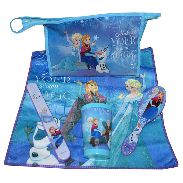 Disney Frozen 5 Piece Bathroom Travel Set - CHARACTEROUTLET.co.uk