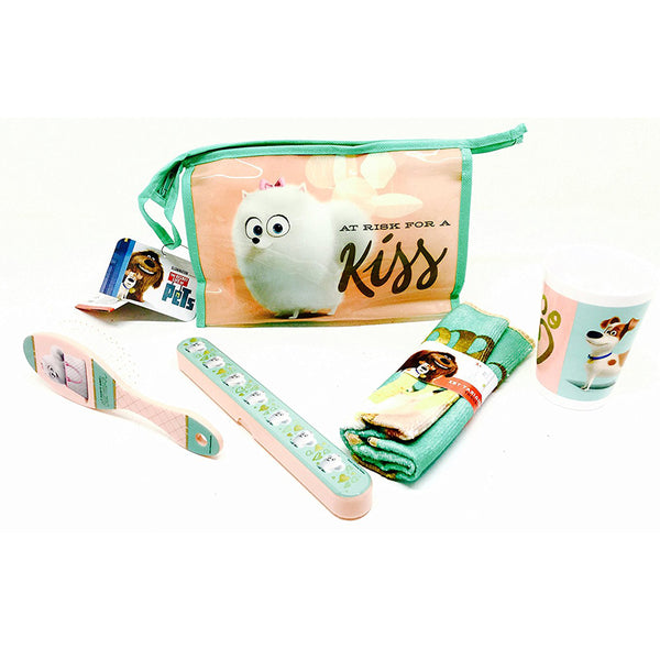 Secret Life Of Pets 'A Risk For A Kiss' Bathroom Travel Set - CHARACTEROUTLET.co.uk
