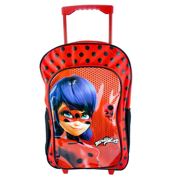 Miraculous 'Lady Bug & Kwamis' Deluxe Trolley Backpack - CHARACTEROUTLET.co.uk