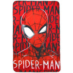 Marvel Spiderman 'Face' Fleece Blanket - CHARACTEROUTLET.co.uk