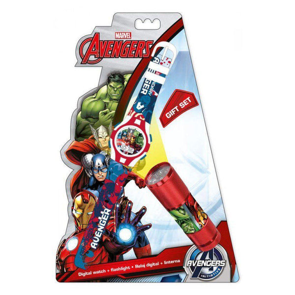Marvel Avengers Digital Wrist Watch & LED Torch Set - CHARACTEROUTLET.co.uk