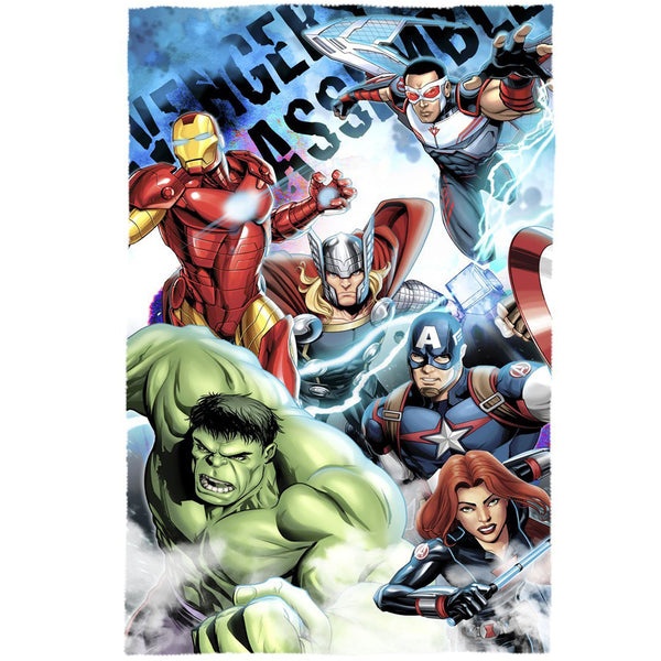Marvel Avengers 'Assemble' Fleece Blanket - CHARACTEROUTLET.co.uk