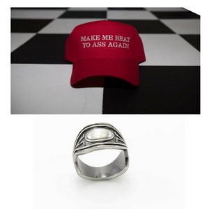 "Rebel Cotton Twill Cap "" Make Me Beat Yo Ass Again x Wakanda King T'Challa  Ring"