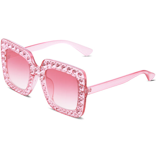 Crystal Oversized Square Sunnies