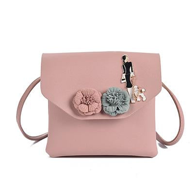 Pink Mini-Floral Cross Body Bags