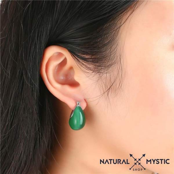 opale verte boucles d'oreille natural mystic shop