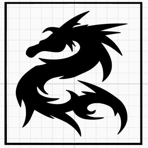 Tribal Dragon Stencil x5