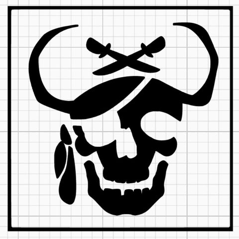 Ghost Pirate Stencil x5