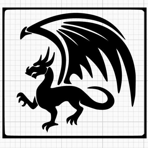 Giant Wing Dragon Stencil x5
