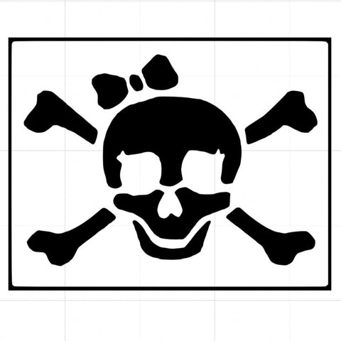 Pirate Bow Stencil x5