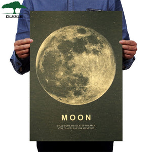 Vintage Moon Wall Poster