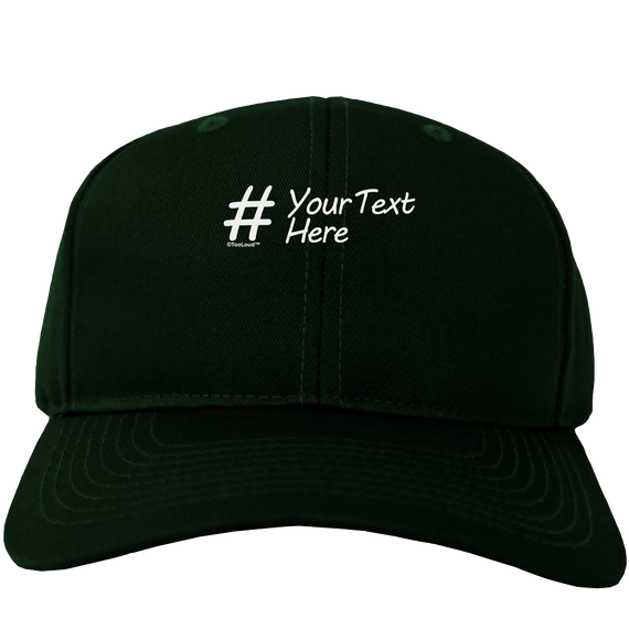 Personalized Hashtag Adult Dark Baseball Cap Hat