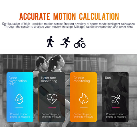 Fashion Smart Watch - Heart Rate, Blood Pressure, Pedometer, Social Media  Alert - Leather Band