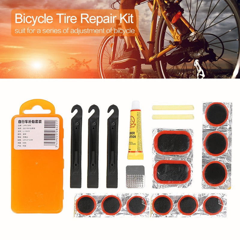 Portable Cycling Bike Bicycle Repair Rubber Glue Tire Tyre Tool Set Kit Patch