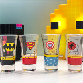 DC VS Marvel 4Pcs set Shot Glasses