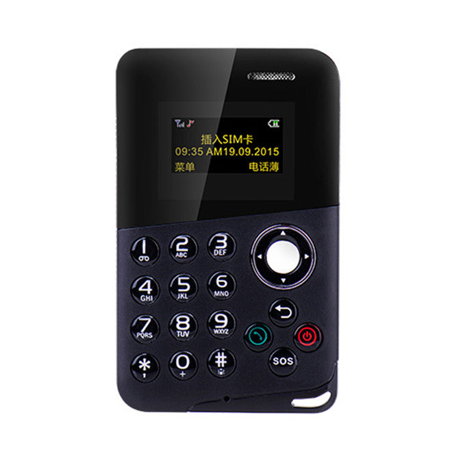 AIEK M8 Mini Card Phone Color Screen Card Phone - Zendrian