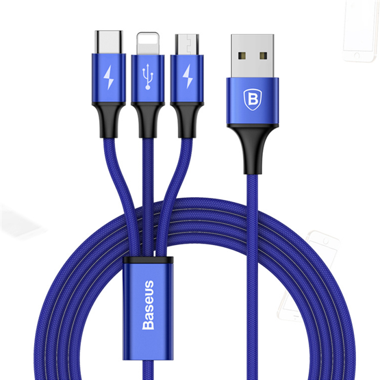 Rapid Series 3-in-1 Cable(Lightning+Micro+Type-C) - Zendrian