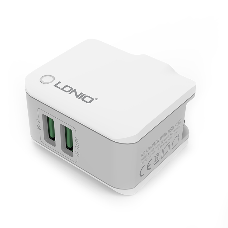 LDNIO A2203 2.4A 2 USB Port Travel Charger - Zendrian
