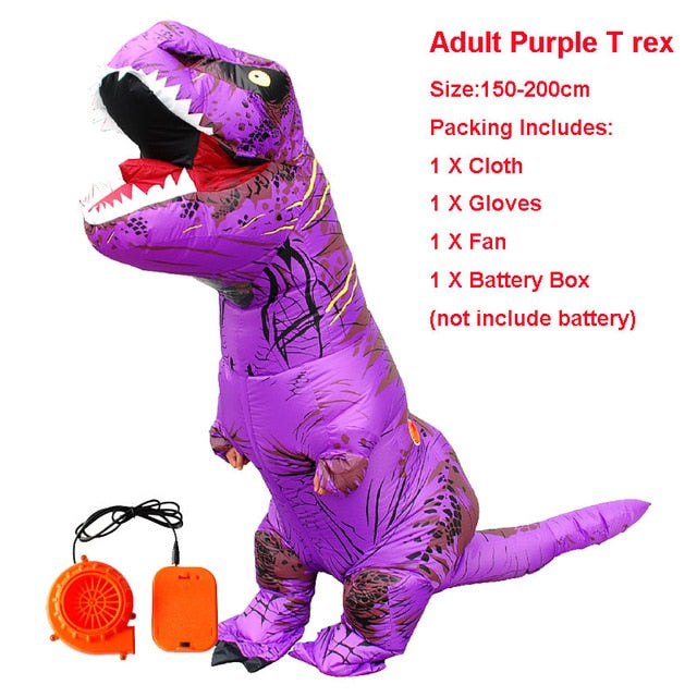 Adult Inflatable Costume Dinosaur Costumes T REX Blow Up Fancy Dress Cosplay
