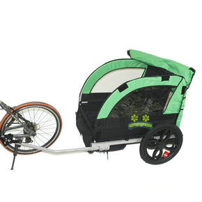 2 Kids/Child Bicycle Tow Behind Trailer, Baby Stroller Bike Tricycle of Double seat, Aluminum Alloy frame and air wheel