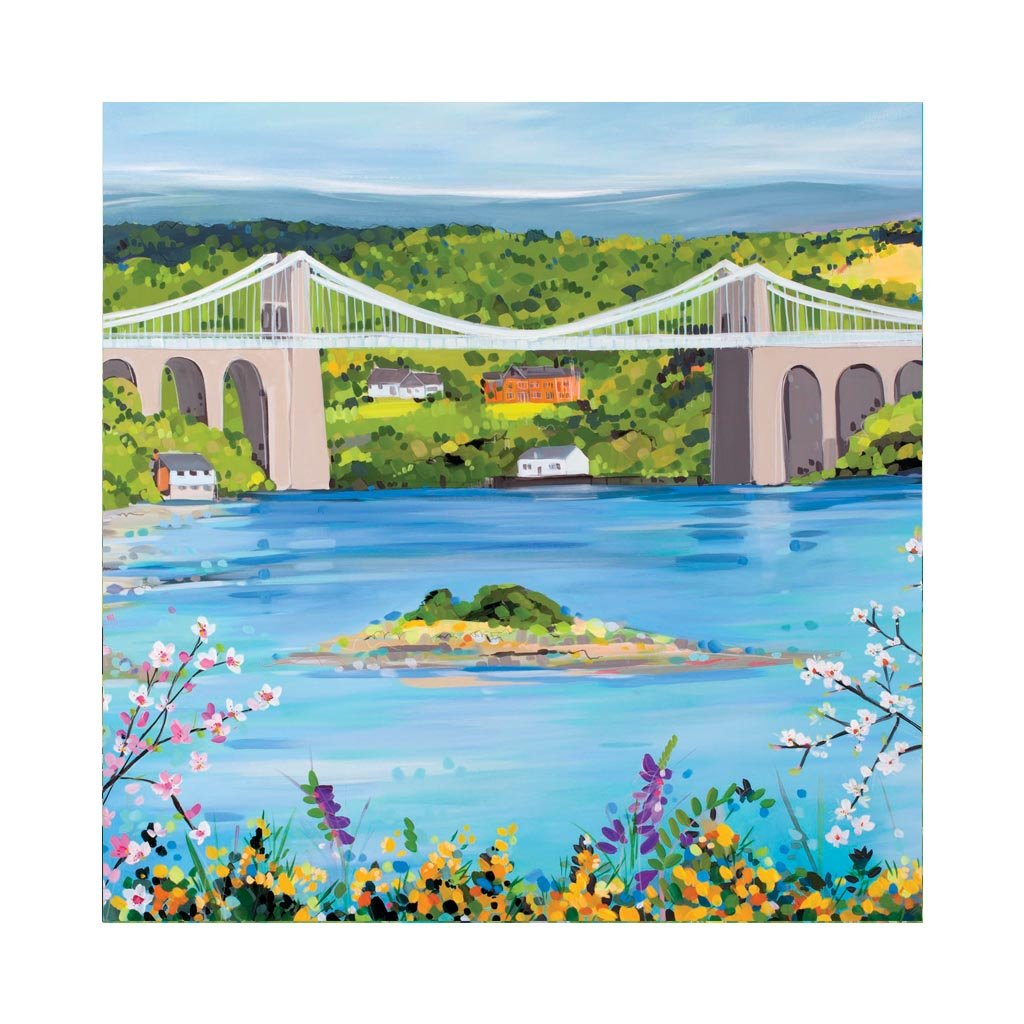 MENAI BRIDGE IN SPRING Greetings Cards (x6)