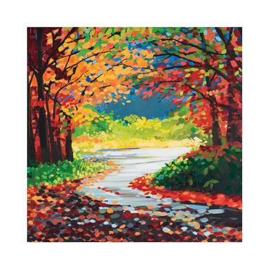 AUTUMN LEAVES Greetings Cards (x6)