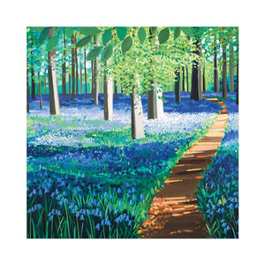 BLUEBELL FOREST Greetings Cards (x6)