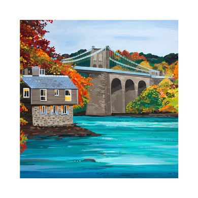 AUTUMN BRIDGE Greetings Cards (x6)