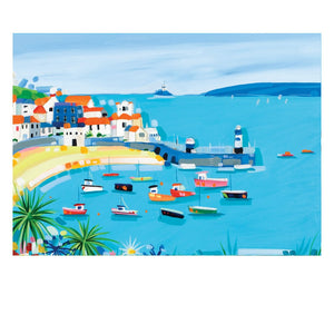 ST. IVES HERE WE COME POSTCARD (Pack of 50)