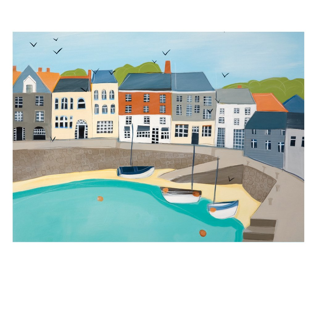 SOUTH QUAY PADSTOW POSTCARD (Pack of 50)