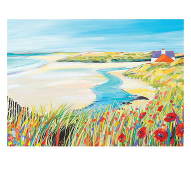 POPPIES AT THE BEACH POSTCARD (x50)