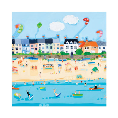 RHOSNEIGR BEACH Greetings Cards (x6)