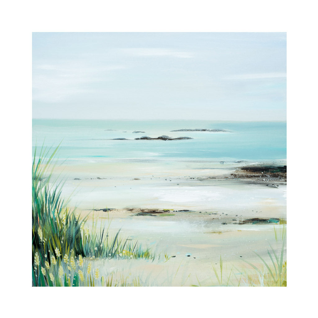SANDY BEACH Greetings Cards (x6)