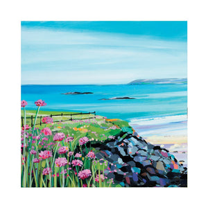 SEAPINKS AT SANDY BEACH Greetings Cards (x6)