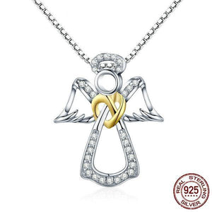 925 sterling silver guardian angel heart pendant necklace clarity 925 sterling silver guardian angel heart pendant necklace guardian angel clarity of faith mozeypictures Choice Image