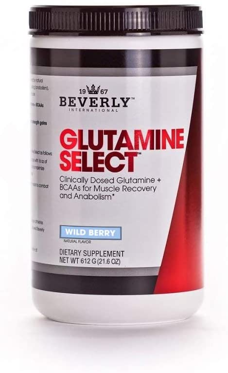 Beverly Int. Glutamine Select Plus BCAAs, 612 grams, Wild Berry
