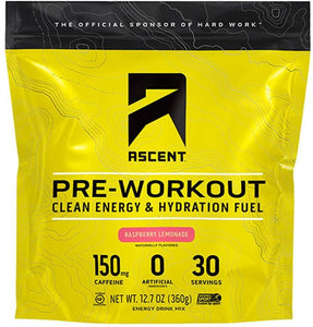 Ascent, Preworkout Raspberry Lemonade 12oz