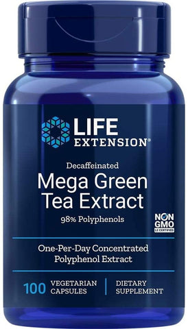 Life Extension, Mega Green Tea Extract Decaffeinated, 100 Vegetarian Capsules
