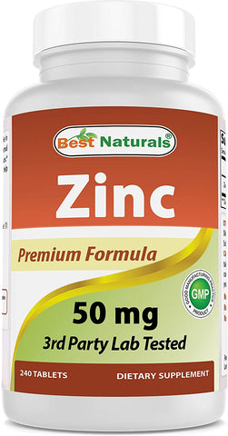 Best Naturals, Zinc Premium Formula, 50mg 240 tablets