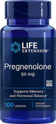 Life Extension, Pregnenolone 50mg, 100 capsules