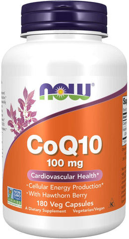 Now, CoQ10 100mg, 180 Vegetable Capsules