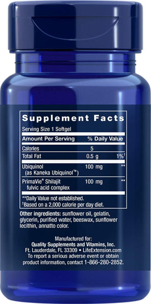 Life Extension, Super Ubiquinol Coq10 With Enhanced Mitochondrial Support 100 Mg, 30 Count